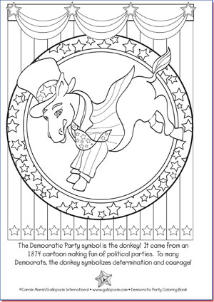 Democratic Party Coloring Page