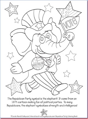 Republican Party Coloring Page